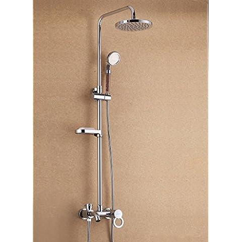 CAC Ottone bagno cromato overhead di bagno doccia mobile porta saponetta barra di scorrimento impostata