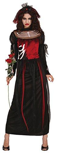 Karneval Klamotten Zombiebraut Horrorbraut Kostüm Damen Halloween Damenkostüm inkl. Schleier Größe 40/42