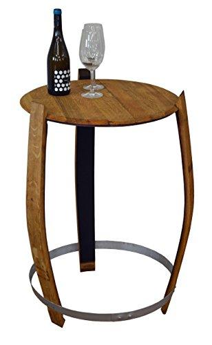 Holz-Design Stehtisch aus echtem Weinfass, Dekofass, Gartentisch aus Holzfass - abgeschliffen und geölt