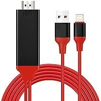 Lightning HDMI Kabel,2 Meter Kabel HDTV MHL Kabeladapter von Penzo,1080P,Transmit Audio und Video Heimkino für iPhone 7/6s/6/5s/5 iPad iTouch TV Projektor