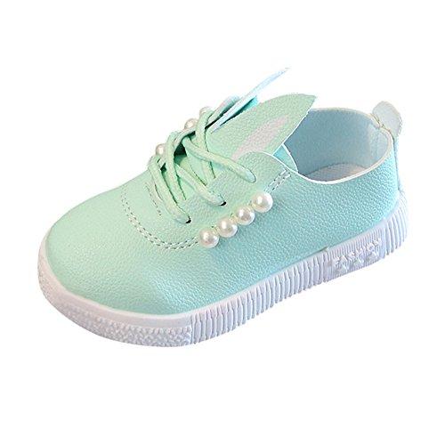 YanHoo Zapatos niñas pequeñas Perlas Zapatilla Deporte