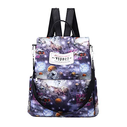 XZDCDJ Schulrucksack Mädchen Schultaschen Rucksack Schultasche Daypacks für Damen Mode Rucksack große kapazität Computer Tasche Graffiti umhängetascheWeiß