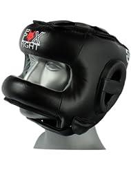 Fox-Fight - Protector de cabeza para artes marciales y boxeo, color negro negro Talla:large/extra-large