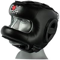 Fox-Fight - Protector de cabeza para artes marciales y boxeo, color negro negro Talla:small/medium