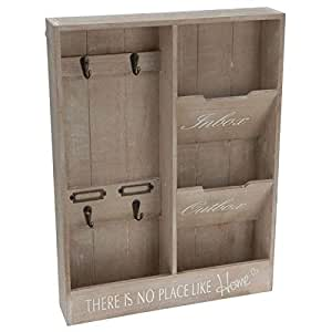 grand porte lettres et cl s mural range courrier 48 cm cuisine maison. Black Bedroom Furniture Sets. Home Design Ideas