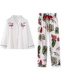 2838560140ade Meaeo Pyjamas Ensemble Automne Coton Femmes Nouveau Dessin Animé Vêtements  De Nuit Col Rabattu Dormir Salon