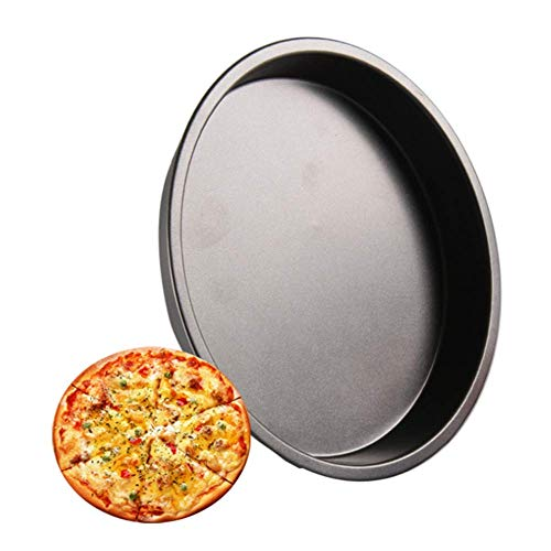 EUYOUZI Carbon Non-Stick Pizza Steel 7 Inch Pie-Deep Dish Pan Pizza Pot Pizza Pans Dish Pie and Cheese Plate (Small) - Deep Pie Pan