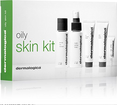 dermalogica Skin Health System - Skin Kit for oily Skin - 5tlg. Inhalt: dermal clay cleanser 50ml, multiactive toner 50ml, oil control lotion 22ml, skin prep scrub 22ml und total eye care with spf 15 4ml Haupflegeset für ölige Haut.