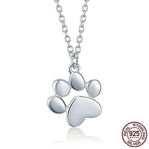 THTHT Sterling Silber Halskette Frauen Niedliche Katzenklaue Einfache Art Mode Idee Temperament Elegant Feine (Sterling Silber Niedliche Halskette)
