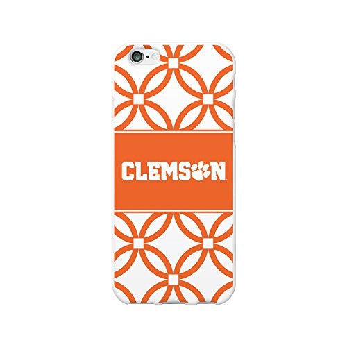 OTM Essentials Clemson University Schutzhülle für iPhone 5 / 5S, transparent, Clemson University, Elm Band, für iPhone 6/6s - Weiß, weiß Clemson Band