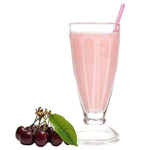 Schwarzwälder Kirsch Geschmack Eiweißpulver Milch Proteinpulver Whey Protein Eiweiß L-Carnitin angereichert Eiweißkonzentrat für Proteinshakes Eiweißshakes Aspartamfrei (1 kg)