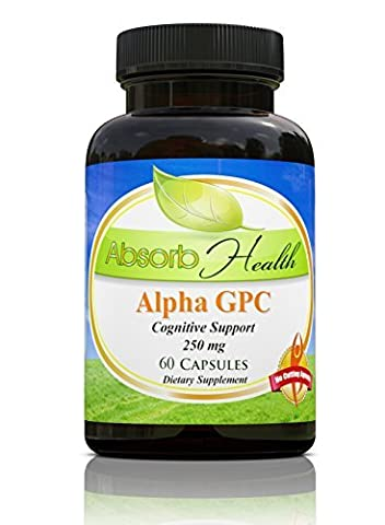 Alpha GPC | 250mg 60 Capsules | Enhancer cognitif puissant | Déclenche cerveau choline niveaux (Cognitive Enhancer)