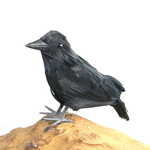 Newin Star 1 Stück Halloween Simulierte Crow Künstliche Raven für Halloween Party Dekoration