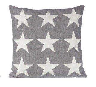 Kissen Stars Dekokissen 9 kleine Sterne grau, weiß Couchkissen