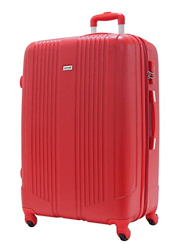 Valise Grande Taille 75cm - ALISTAIR Airo - ABS ultra Léger - 4 roues - Rouge - Garantie 2 ans