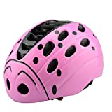 Lommer Fahrradhelm Kinder, Käfer Design Helm Kinder Schutzhelm für Fahrrad, Skaten, Scooter für Jungen und Mädchen