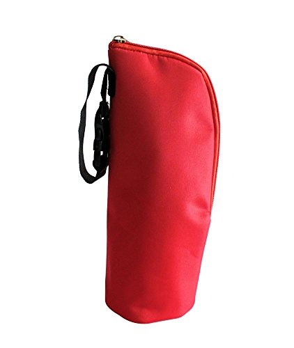 niceEshop(TM) Baby Feeding Bottle Thermal Bag Keep Warm / Cold Cover With Hanging Strap,Red 41OrKFF7JaL