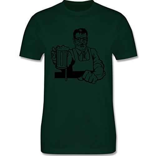 Küche - Barkeeper - Herren Premium T-Shirt Dunkelgrün