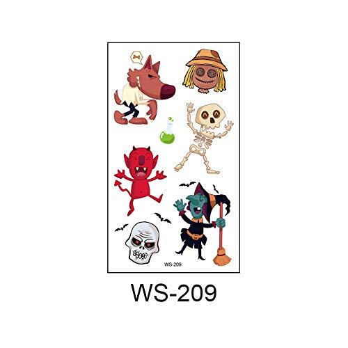 adgkitb 2019 Neue Halloween, Leuchtend, Kinder Tattoo Aufkleber, Umweltschutz, wasserdicht, Schweiß, lustige Cartoon Einwegaufkleber 41 10,5x6cm (Halloween-cartoons Für Lustige Kinder)