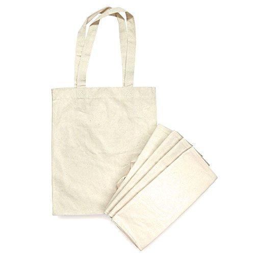 ENDBARE Uni Baumwolle Canvas Tasche für Einkaufen Taschen praktisch und Tägliches Shopping perfekt oder, Dekorieren ()