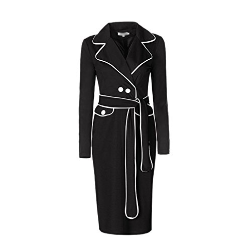 DISSA VDN85 femme mode 2018 Robe de poisson Noir