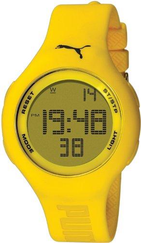 Puma Time - A.PU910801006 - Montre Femme - Quartz - Digitale - Chronomètre - Bracelet plastique jaune