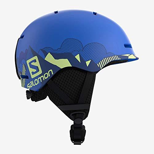 Salomon Kinder Grom Ski- und Snowboardhelm, In-Mold-Schale und EPS-Innenschale, Kopfumfang 53-56 cm, blau, Größe M, L40539800