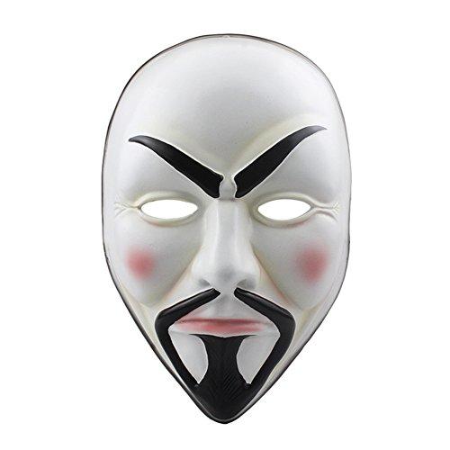 CCOWAY Maske, V for Vendetta Maske, Halloween Masken, für Erwachsene für Karneval, Halloween Oder Fasching