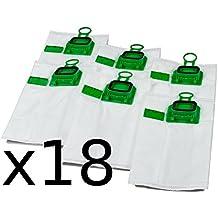 Set de 3 paquetes de 6 bolsas de aspiradora adecuadas para Vorwerk Kobold VK140 y VK