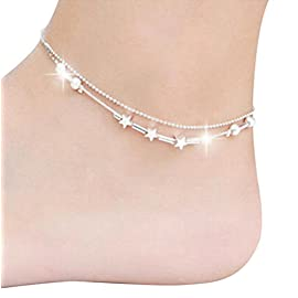 Hosaire 1X Girl Fashion Sky Stars Anklets Chain Women Ankle Bracelet Barefoot Sandal Beach Foot Jewelry