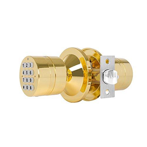 Seguridad avanzada turbolock sin llave Smart Lock-con bloqueo automático, copia de seguridad recargable y fácil instalación