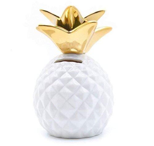 Gwill Ananas-Münze Piggy Bank Dekorative Keramik Ananas Shaped Geld-Dosen Nette Spardosen für Ananas Thema Party Decor Mädchen Kinder Kinder Erwachsene Geburtstag Geschenke (Themen Erwachsene Geburtstag)