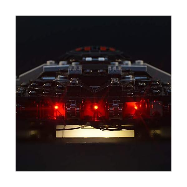 LIGHTAILING Set di Luci per (Star Wars Kylo Ren's Tie Fighter) Modello da Costruire - Kit Luce LED Compatibile con Lego… 5 spesavip
