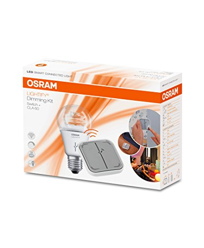 Osram Lightify Dimming Switch Kit ( LED E27 Dimmable/Lightify Switch Wireless/Intelligent Remote Control for Easy and Flexible Smart Home Operation)
