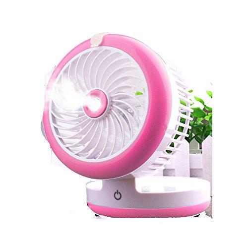 ZZHDDP Usv kleiner Lüfter Wiederaufladbare Kühlung Befeuchtungsventilator Student Schlafsaal Büro Sprüher Fan Mini-Bett mit Klimaanlage Ventilator (3 Farben optional) (12 * 9cm) (Farbe : - Min-dc 2000 Motor / U