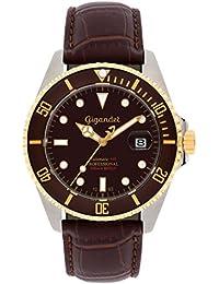 Gigandet Automatik Herren-Armbanduhr Sea Ground Taucheruhr Uhr Datum Analog Lederarmband Braun G2-019