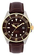 Gigandet SEA GROUND Automatik Herren Armbanduhr - Taucheruhr 300m wasserdicht mit Lederarmband und braunem Zifferblatt - G2-019