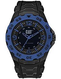 CAT WATCHES Men's 'Motion' Quartz Plastic and Rubber Watch, Color:Black (Model: LB16121136)