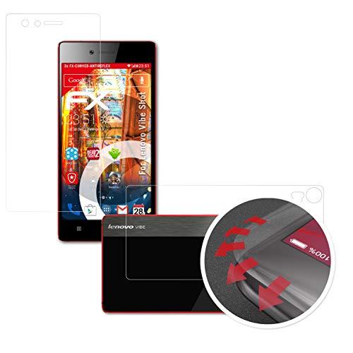 atFolix Schutzfolie passend für Lenovo Vibe Shot Folie, entspiegelnde & Flexible FX Bildschirmschutzfolie (3er Set)