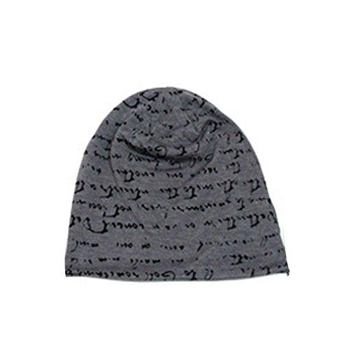 THENICE-Unisex-lettera-Cappello-Beanie-Cuffia-Berretto-Cap-Dark-Grey