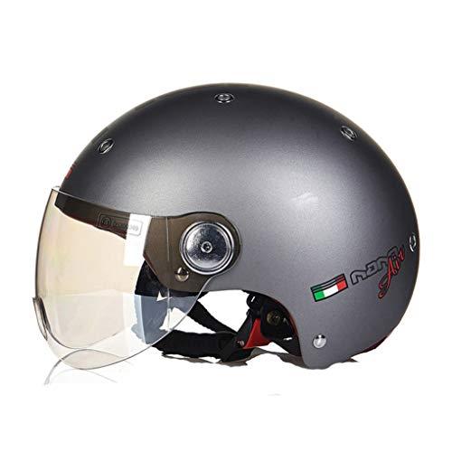 OLEEKA Motorradhalbhelm mit Sonnenschutz für Männer und Frauen, verstellbare Größe, halbes Gesicht, für Fahrrad, Cruiser, Chopper, Moped, Roller, ATV