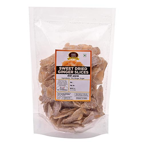 FOOD ESSENTIAL Sweet Dried Ginger Slices 500 gm.