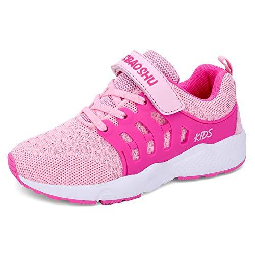 zhenghewyh Turnschuhe Kinder Sneaker Sportschuhe Hallenschuhe Outdoor Laufschuhe Für Unisex-Kinder (36 EU, Rosa)