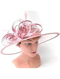Damenhut Anlasshut elegant in Cremeweiß/Rosefarbig