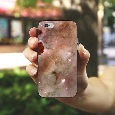 Apple iPhone X Silikon Hülle Case Schutzhülle Galaxy Space Die Staubsäule des Carina-Nebels Silikon Case schwarz / weiß