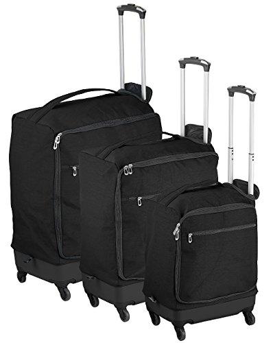 Xcase Kofferset: 3 ultraleichte 4 Rollen Reise-Trolleys, 46, 57 und 78 Liter (Trolley)
