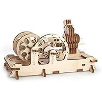 Ugears 70009Maqueta de motor, diseño de madera en 3D sin pegamento