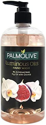 Palmolive Luminous Oils Rejuvenating Liquid Hand Wash, 500ml Dispenser Bottle with Fig Oil and Orchid Extracts