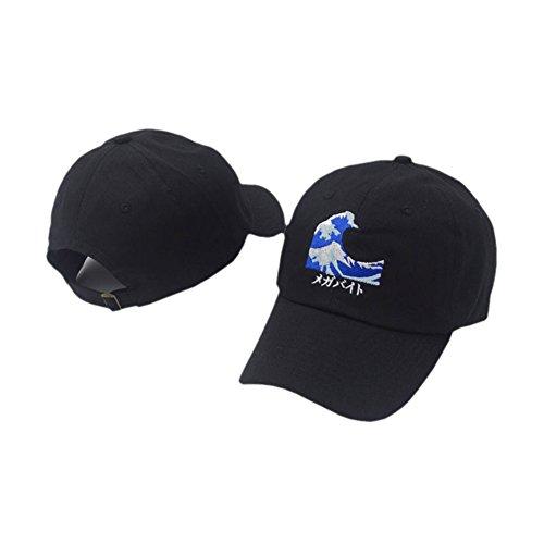 df37354f2dad1 Amkun Fishbone Logo, Wavy Snapback Baseball Cap Duck Tongue Hat Outdoor  Leisure Visor Cap Dad