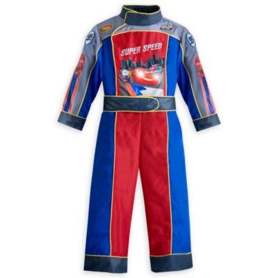 Disney Pixar Autos. Super Speed, Kinder McQueen Leuchten Kostüm - Formula Racer Kostüm für Jungen Größe; 9/10